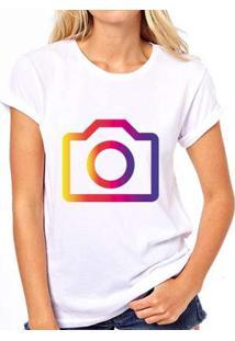 Camiseta Coolest Instagram Feminina - Feminino-Branco