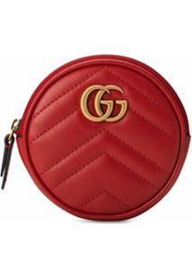 Gucci Porta-Moedas Gg Marmont - Vermelho