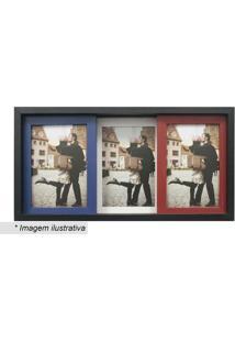 Painel Slide Para 3 Fotos- Preto & Vermelho- 19X38X6Kapos