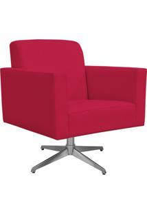 Poltrona Decorativa Com Base Giratã³Ria Para Sala De Estar Helã´ L02 Suede Pink - Lyam Decor - Rosa - Dafiti