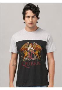 Camiseta Masculina Bicolor Queen Composition - Masculino