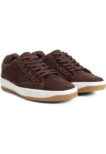 0928755617 ... Sapatênis Couro Shoestock Recortes Masculino - Masculino-Marrom