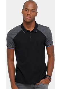 Camisa Polo Calvin Klein Piquet Raglan Masculina - Masculino