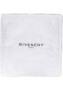 Givenchy Kids Cobertor Com Estampa De Logo - Branco