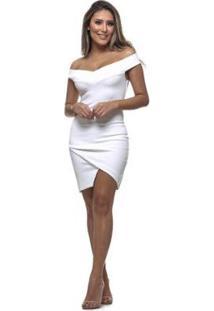 Vestido Clara Arruda Tubinho - Feminino-Off White