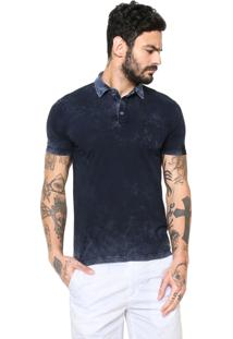 Camisa Polo Replay Estonada Azul