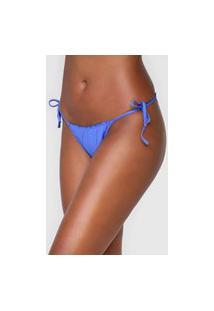 Calcinha Malwee Liberta String Franzidos Azul