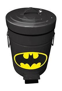 Lixeira Metrópole Com Pedal Dc Batman Em Metal - 5 L