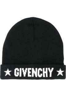 Givenchy Gorro Com Logo - Preto