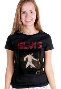 Camiseta Bandup Bandas Elvis Presley 70S Dancing Preto