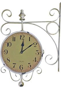 Relógio De Parede Com Suporte Para Pendurar - Decoração Retrô Vintage Estação De Trem De Roma 1963 R3P Import