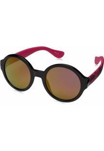 Óculos Havaianas Floripa Feminino - Feminino-Preto+Rosa