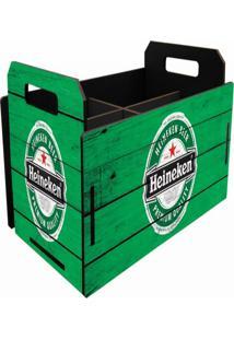 Caixote Mdf Pequeno Temático Cerveja Garrafa Verde 10X18X11