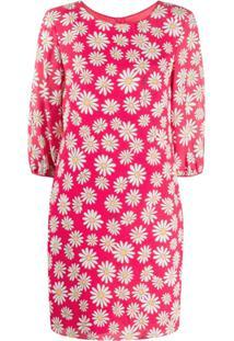 Boutique Moschino Vestido Reto Mini Com Estampa Floral - Vermelho