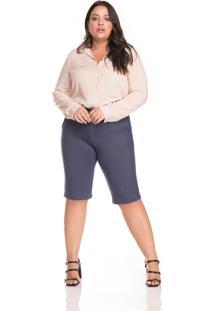 Bermuda Leg & Cia Com Bolso Azul