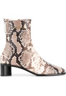 Acne Studios Ankle Boot Com Estampa Pele De Píton - Neutro