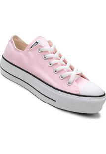 Tênis Converse Chuck Taylor All Star Plataform Feminino - Feminino-Rosa+Branco