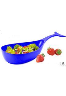 Petisqueira Melamina 30,6Cm Baleia Azul Basic Kitchen