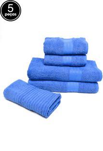 Jogo De Banho 5Pçs Buddemeyer Frape Azul