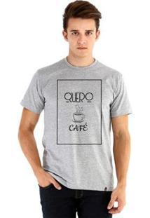 Camiseta Ouroboros Manga Curta Quero Café - Masculino-Cinza