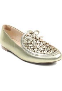 Sapato Feminino Loafer Zariff Metalizado