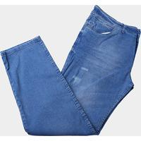 1d40d528c Calça Jeans Plus Size Preston Com Puídos Masculina - Masculino