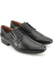 Sapato Social Teselli Couro - Masculino-Preto