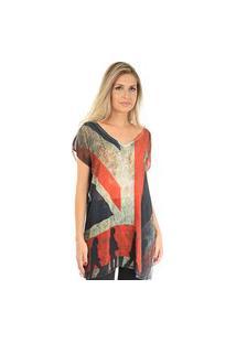 Blusa 101 Resort Wear Tunica Bandeira Inglesa