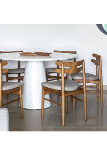 Cadeira Hw - Henry Klein Tecido Sintético Tecido Sintético - Bege Claro