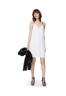 Vestido Risca Alça Off White