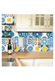 Adesivo De Azulejo Azul Royal 15X15Cm