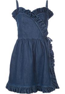 Stella Mccartney Vestido Jeans Translúcido - Azul