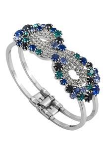 Bracelete Com Pedras Tudo Joias Folheado A Ródio - Feminino
