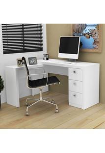 Mesa Para Escritório De Canto Me4101 Branco - Tecno Mobili