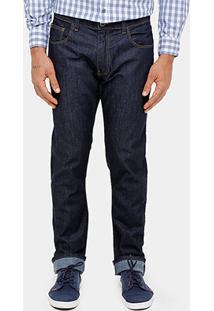 Calça Jeans Slim Fit Ellus Escura Classic Masculina - Masculino