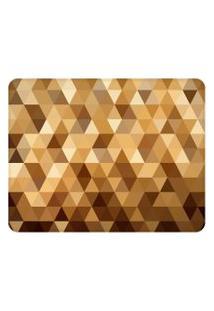 Tapete Love Decor Sala Wevans Multi Triângulos Dourado Único
