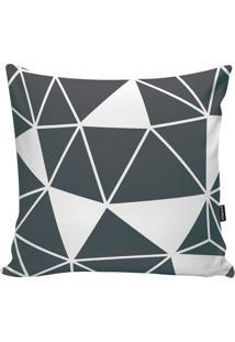 Capa De Almofada Geometric- Cinza & Branca- 45X45Cm