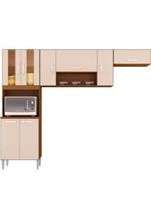 Cozinha Compacta Lavinia-Poquema - Capuccino / Off White