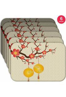 Jogo Americano Love Decor Wevans Chinese Kit Com 6 Pçs
