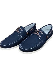 Mocassim Navit Shoes Docksider Marinho