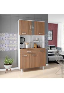 Cozinha Compacta Atenas 6 Pt 1 Gv Branca E Montana