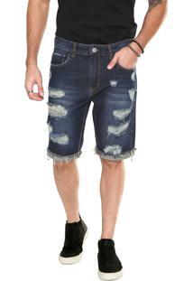 Bermuda Jeans John John Reta Clássica Azul