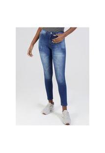 Calça Jeans Estonada Feminina Azul