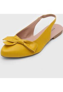 Sapatilha Fiveblu Slingback Laã§O Amarela - Amarelo - Feminino - Dafiti