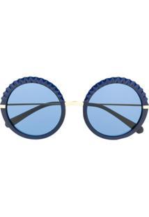 Dolce & Gabbana Eyewear Óculos De Sol Plissè - Azul