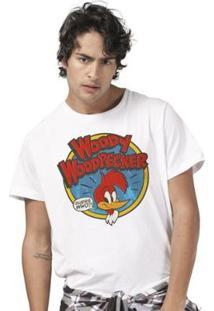 Camiseta Bandup Pica Pau Woody Woodpecker - Masculino-Branco