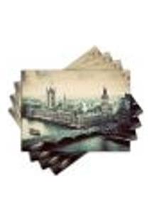 Jogo Americano - Londres Com 4 Peças - 446Jo