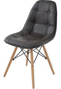 Cadeira Eames Eiffel Botone Marrom Base Madeira - 28350 - Sun House