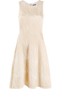 Emporio Armani Vestido Mini Texturizado - Neutro