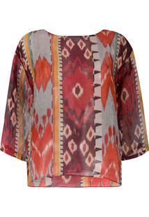 Forte Forte Blusa Com Estampa Abstrata - Vermelho